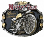 H.R.D. Vincent Black Shadow Motorcycle Gold and Silver Plated Belt Buckle Code OD2